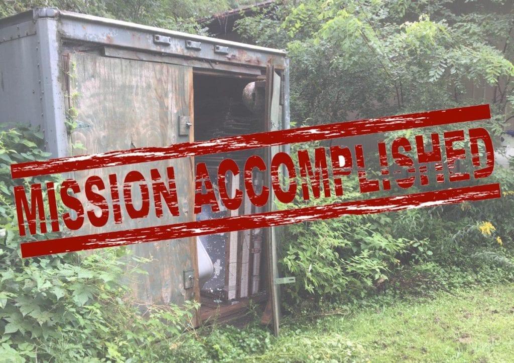 Storage Unit Mission Accomplished