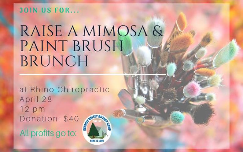 Raise a Mimosa & Paint Brush Brunch at Rhino Chiropractic, Victor, NY